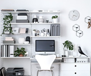 home, desk, and office image