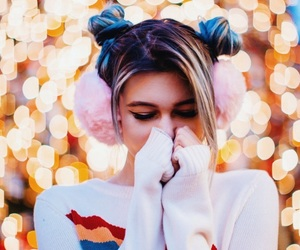 jessie paege, lights, and pink image