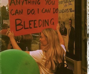 feminism, girl power, and bleeding image