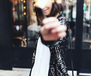 girl, fashion, and lights image