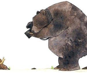 bear, camera, and art image