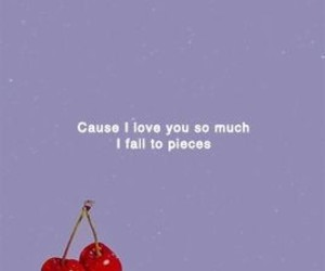 cherry, purple, and lana del rey image