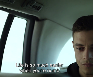mr robot, NUMB, and quotes image