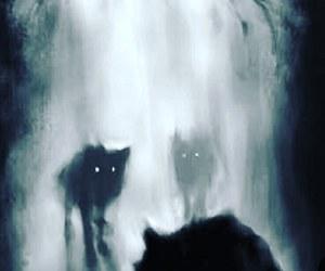 dark and wolf image
