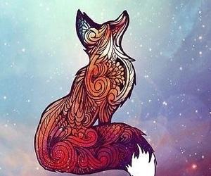 fox, galaxy, and art image