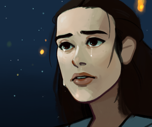 star wars, the force awakens, and reylo image