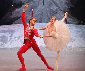 ballet, christmas, and couple image