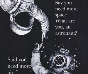 astronaut, breakup, and Lyrics image