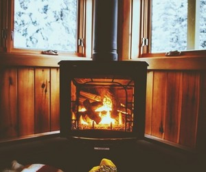 winter, cozy, and snow image