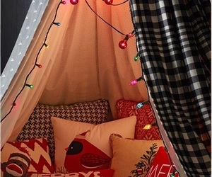 christmas lights, merry christmas, and blanket fort image