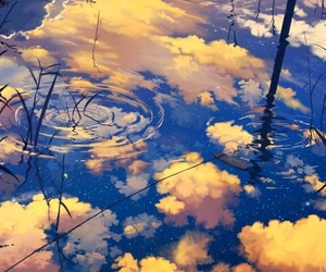clouds, water, and nature image