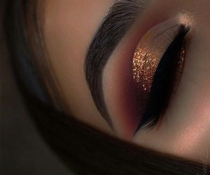 brown, glitter, and gold image