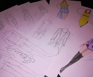 fashion, sketch, and work image