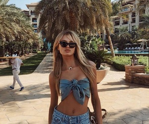 romee strijd, style, and summer image