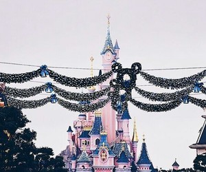 castle, christmas, and fairytale image