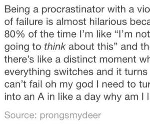 me, personality, and procrastination image