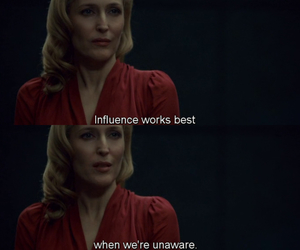 gillian anderson, hannibal, and influence image