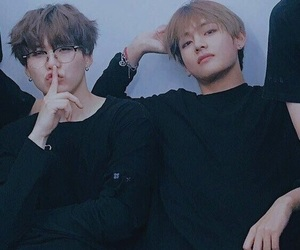 bts, taehyung, and suga image