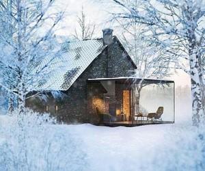 Snow, house, cottage, fairytale, fairy, fantasy, wow, amazing, white, love