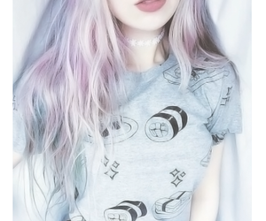 choker, icon, and pink hair image