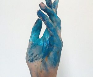 blue, paint, and aesthetic image