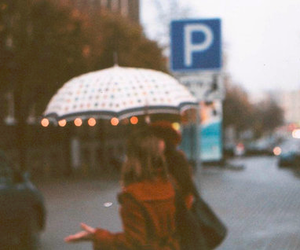 girl, umbrella, and hipster image