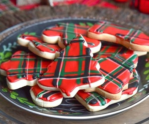 christmas, plaid, and Cookies image