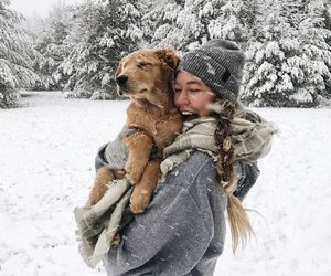 best friends, moments, and snow image