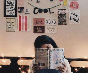 beautiful, girls, and reading image
