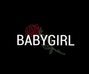 wallpaper, black, and babygirl image