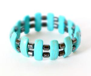 etsy, energy bracelet, and turquoise howlite image
