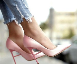 pink, shoe, and shoes image