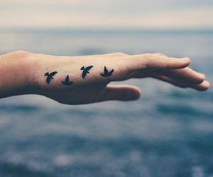 birds, body art, and ink image