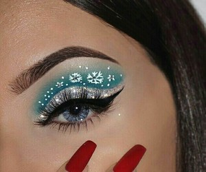 makeup, christmas, and eyebrows image