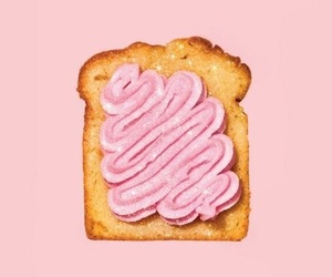 pink, aesthetic, and bread image