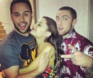ariana grande, mac miller, and scooter braun image