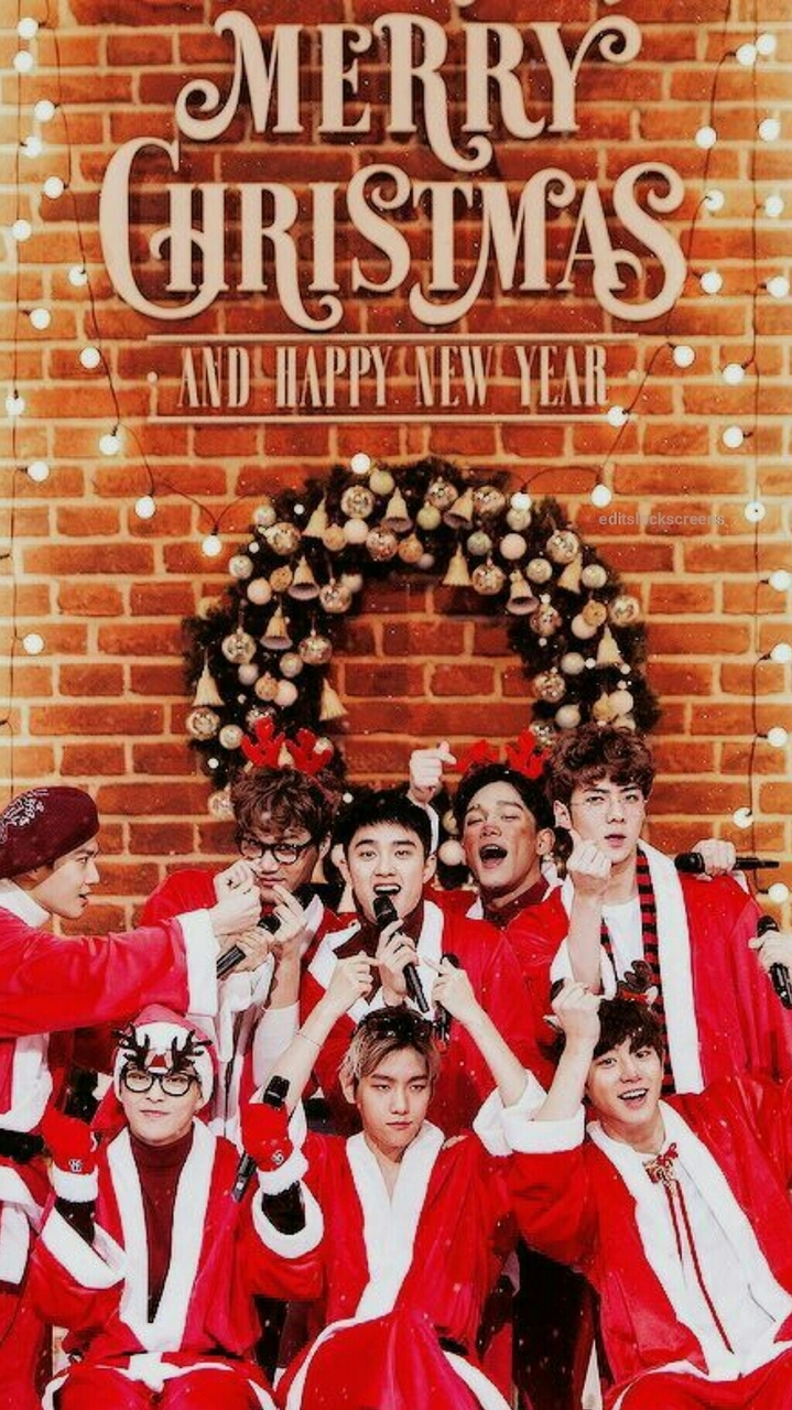 Exo Christmas Lockscreen Discovered By Exorainbow