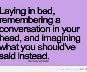 conversation, text, and bed image