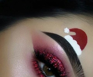 christmas, makeup, and beauty image
