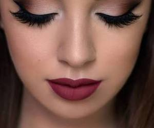 makeup, lips, and lipstick image