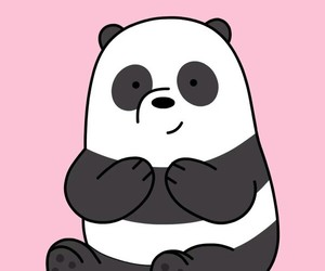 animal, cartoon, and panda image