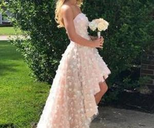 evening dress, pink, and strapless image