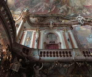 architecture, gold, and painting image