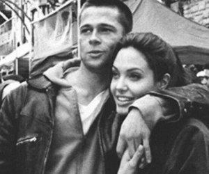 brad pitt, couple, and Angelina Jolie image