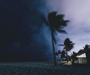 beach, storm, and night image