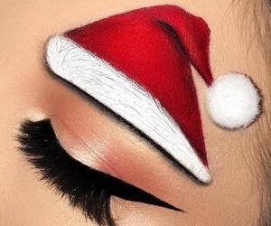 christmas, makeup, and eyebrows image