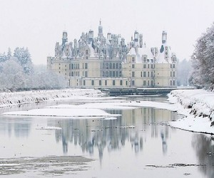 castle, winter, and chateau image