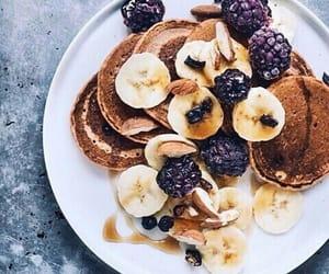 banana, food, and blackberry image