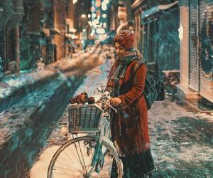 bicycle, girl, and relax image