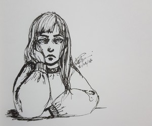 art, black and white, and boredom image